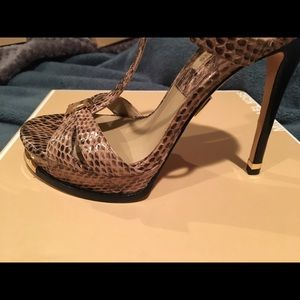 889edff21703 Michael Kors Collection Shoes - Michael kors Leandra genuine snake heels