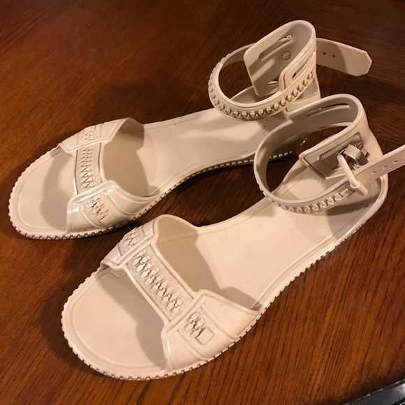 705e6454aee0 Givenchy Shoes - Givenchy nude beige zipper ankle gladiator sandal