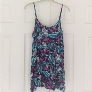 American Eagle tropical print swing dress
