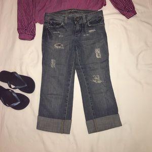 Mavi Denim - MAVI Low Rise Slim Patch Pant Size 29. Distressed