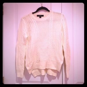 Forever 21 Sweaters - High low cream knit sweater