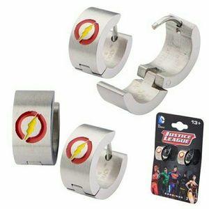 Jewelry - Flash Logo Stainless Steel Huggie Earring