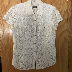 Sanctuary Tops - Sanctuary Lace Western Shirt