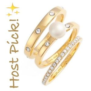 kate spade Jewelry - ✨NWT✨ Kate Spade Pearly Delight Stackable Rings 3
