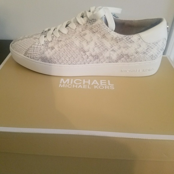 37973a88d Michael Kors Shoes | Mk Irving Snakeembossed Lowtop Sneaker | Poshmark