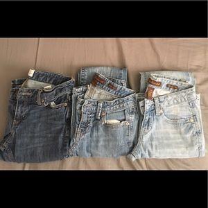 Aeropostale Denim - Lot of 3 Aeropostale Gently Worn Junior Girl Jeans