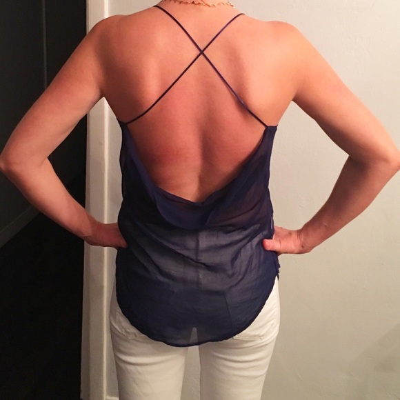 54 off zara tops zara navy blue sheer open back top for What time does old navy open today