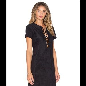 wayf Dresses & Skirts - WAYF lace up dress