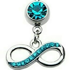 Jewelry - Navel Piercing with Turquoise Dangle Charm