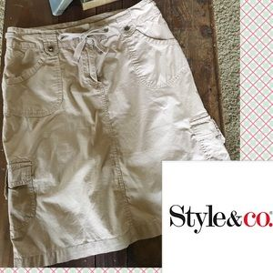 Style & Co Dresses & Skirts - Cargo Khaki Chino Skirt by Style & Co.