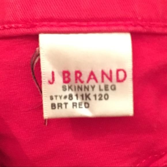 39 off j brand denim sale j brand bright red skinny leg pants from adriana 39 s closet on poshmark. Black Bedroom Furniture Sets. Home Design Ideas