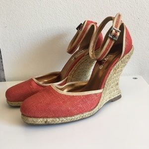Hype Shoes - Hype Burt Orange & Gold Wedges