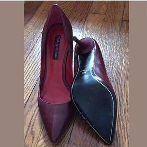 Charles Jourdan Shoes - CHARLES JOURDAN Womens Red Point Toe Pumps Size 8