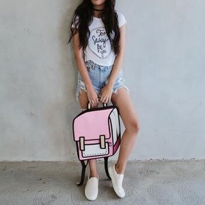 Urban Outfitters Handbags - 3-D pink backpack
