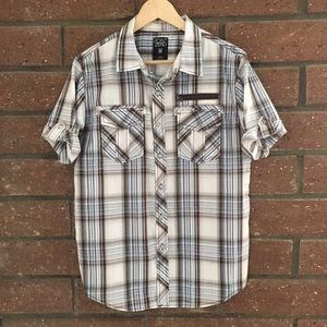 Point Zero Other - Blue & Brown Plaid Shirt