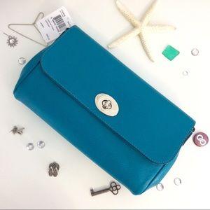 F54849 COACH Turquoise Ruby Crossbody 00069