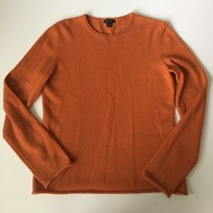 Via Prive Sweaters - Privé Cashmere Orange Sweater Size M