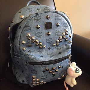 MCM Handbags - MCM small stark denim backpack