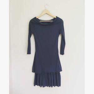 Free People Off Shoulder Bodycon Wool Blend Dress