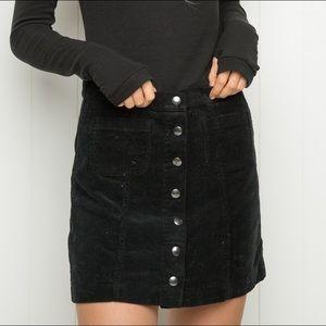 Brandy Melville Dresses & Skirts - M BRANDY MELVILLE BRUCE BLACK CORDUROY SKIRT