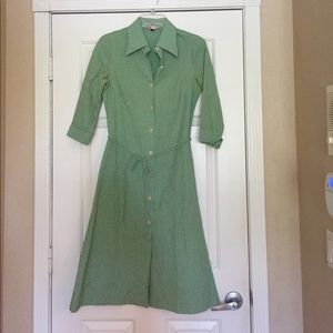 Diane von Furstenberg Dresses & Skirts - Diane Von Fustenberg Green & White shirt dress 👗