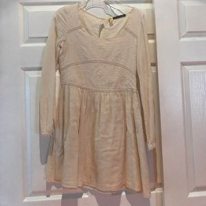 Zara cream embroidered dress