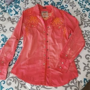 Roar Tops - Pearl snap western shirt