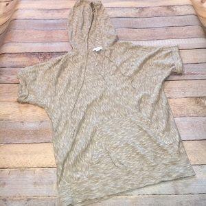 New York & Company Tops - NY&Co Slub Knit Short Sleeved Hoodie
