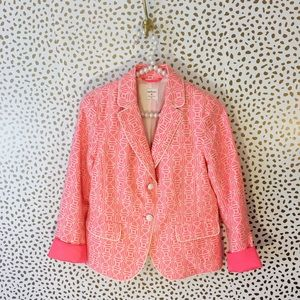 Gap Bright Pink Textured Academy Blazer