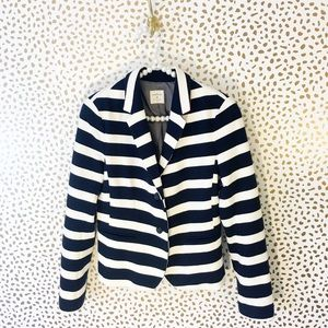Gap Navy & White Striped Academy Blazer