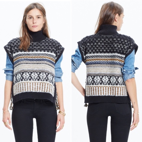 62% off Madewell Sweaters - Madewell Fair Isle Side Tie Sweater ...