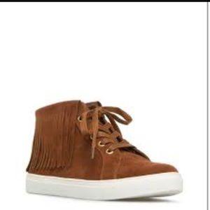 ShoeDazzle  Shoes - ShoeDazzle Suede Fringe Sneakers
