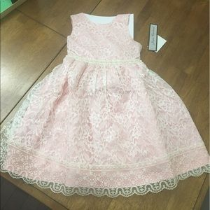 Jayne Copeland Other - Girl's Pink Lace and Pearl Dress