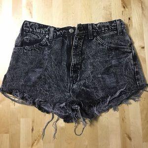 Levi's Acid Wash Denim High Waist Vintage Shorts