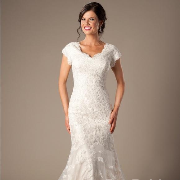 29 off allure bridals dresses skirts allure bridal for Allure modest wedding dresses