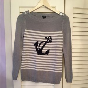Talbots anchor sweater