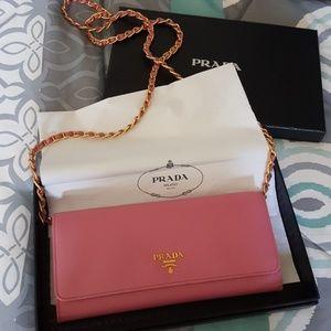 Prada Handbags - Prada WALLET ON CHAIN