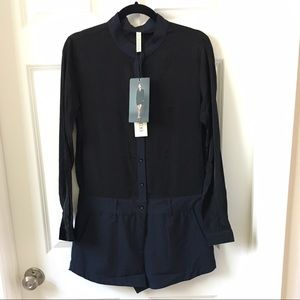 State of Being Pants - Shirt Playsuit / Jumpsuit / Romper - Black,Navy