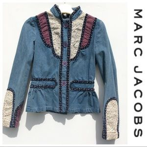 MARC JACOBS Denim Jacket 4 small ADORABLE fitted