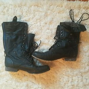 Madden Girl Shoes - Madden Girl Combat Boots