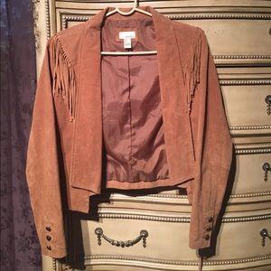 Forever21 Size S 100% suede fringe jacket