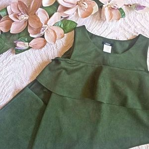 MSK Dresses & Skirts - 🎆Made in USA🎆MSK Soft Suede Forest Green Dress