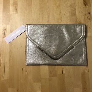 *NWT* BCBGeneration Silver Envelope Clutch
