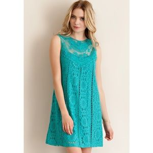 Entro Dresses & Skirts - 🆕 Sleeveless Teal Lace Dress