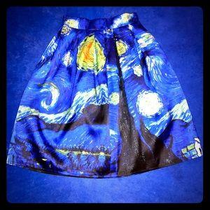 Dresses & Skirts - FLASH SALE: Starry Night Skirt (Vincent Van Gogh)