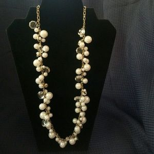 Chloe + Isabel Jewelry - Pearl + Crystal Drops Long Necklace