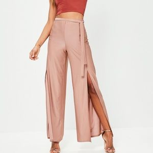 Missguided Pants - New slit slinky pants