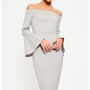 Missguided Dresses & Skirts - New grey off the shoulder midi dress