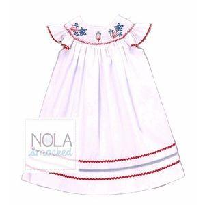 NOLA Smocked Other - 💥Firework smocked bishop dress