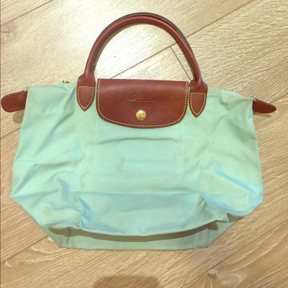 87ae81da2292 Longchamp sea foam green tote bag